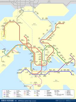 Схема метро Гонконг.