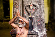 indian_sadhu_performing_ ...